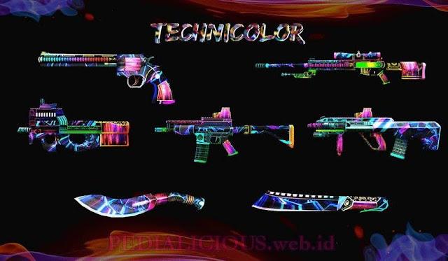 Harga & Statistik Seri Technicolor Senjata Point Blank