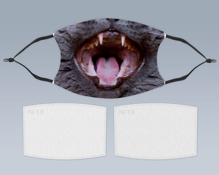 Different types and designs of mask and face masks in a variety of designs with cats face