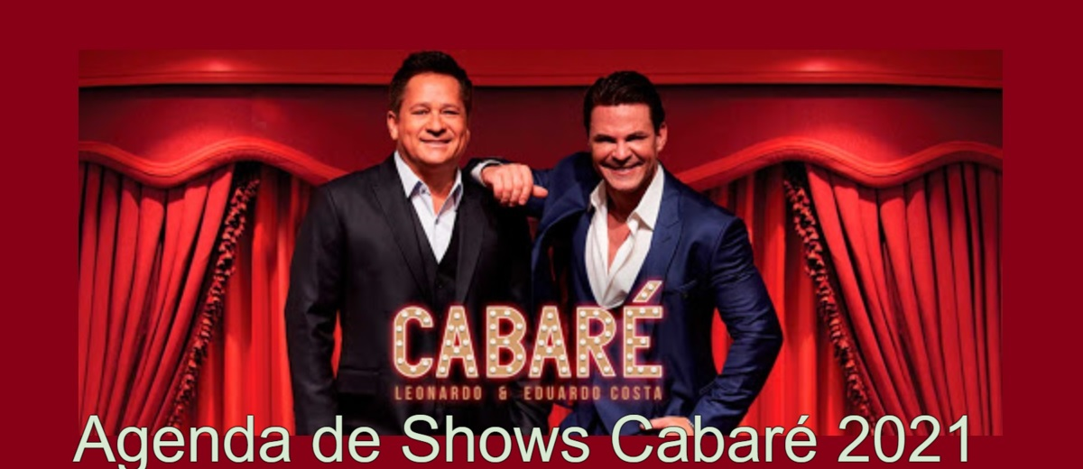 Agenda Shows Cabaré 2021 - Próximos Shows