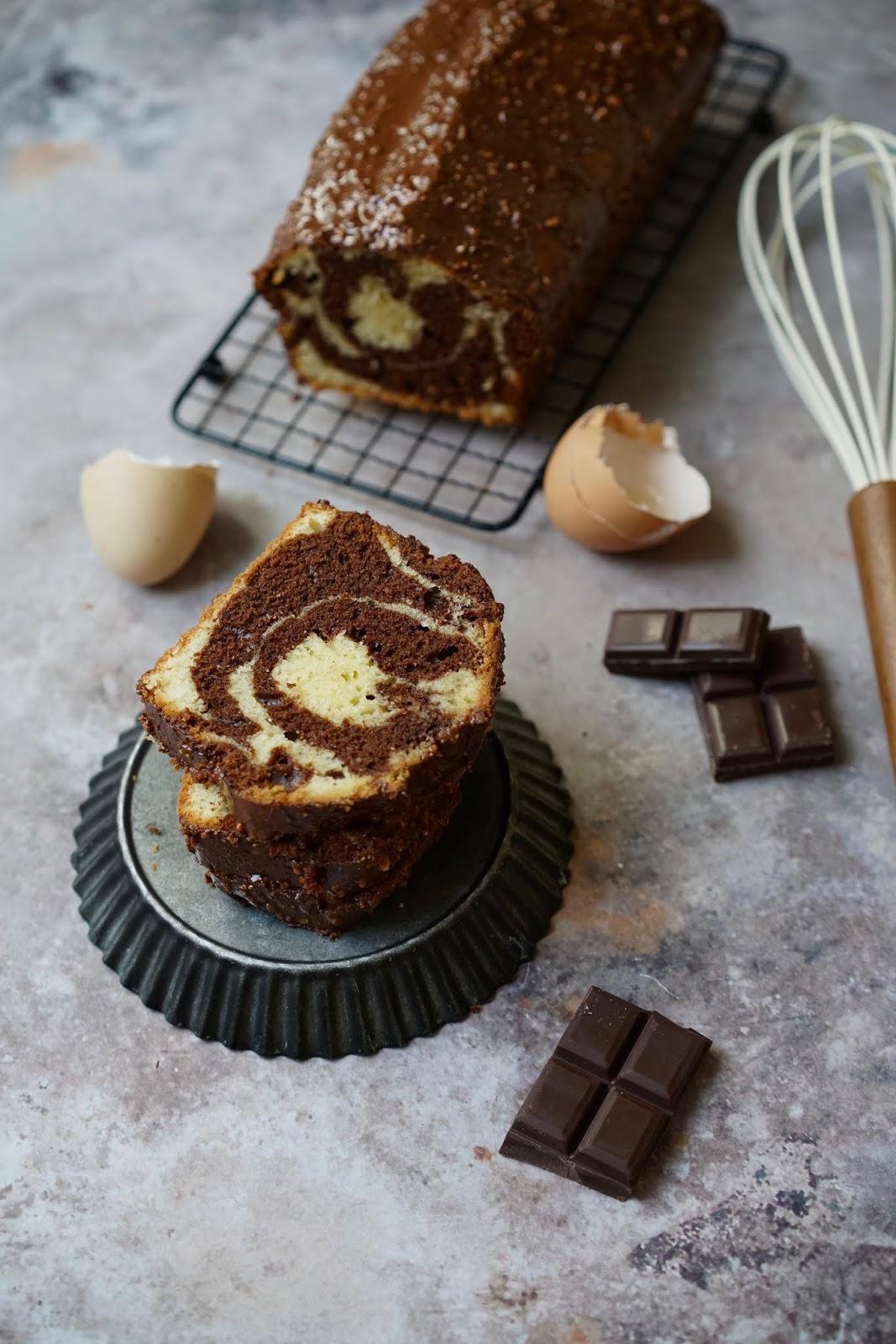 cake moelleux , gâteau marbré