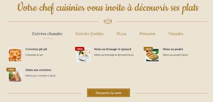 Votre chef cuisinier vous invite à découvrir ses plats