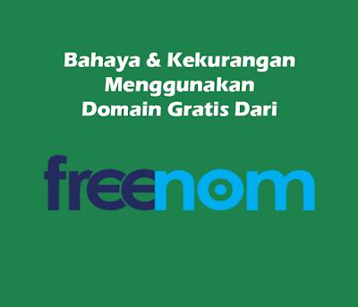 Bahaya & Kekurangan Menggunakan Domain Gratis Dari Freenom