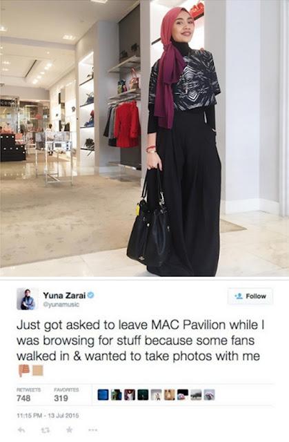 Cerita Yuna Kena Halau Dari Kedai Alat Solek