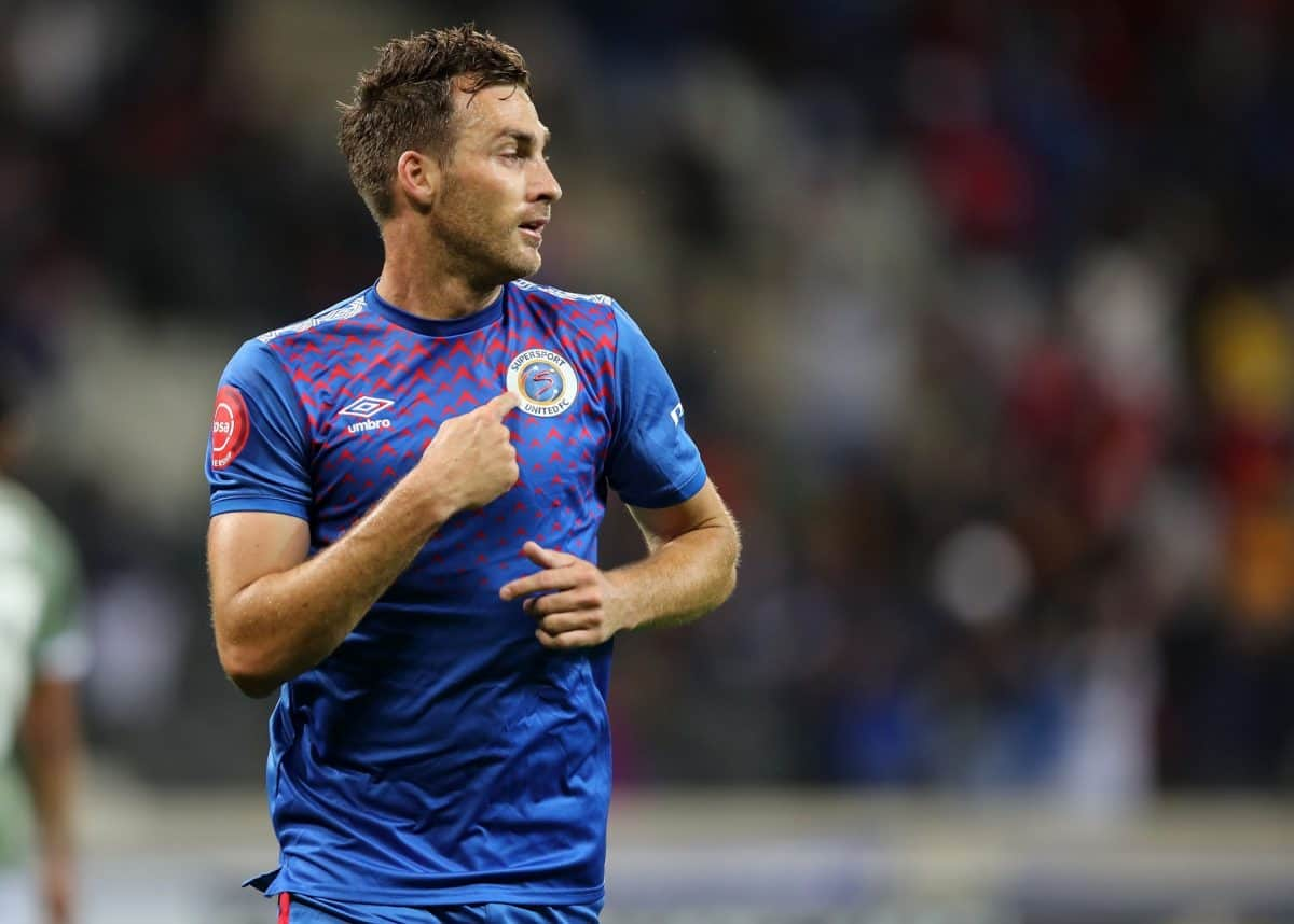SuperSport United striker Bradley Grobler