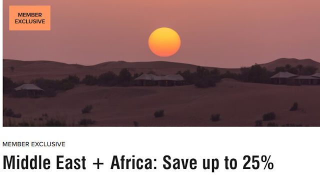 Marriott萬豪中東及非洲區域酒店最低可享七五折優惠  (03/30前有效)