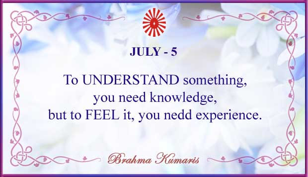 Thought For The Day July 5