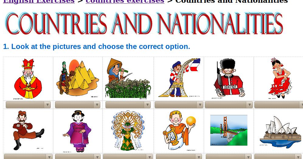 Dibujos De NiÑos Por Nacionalidades: Países Y Nacionalidades.-Inglés Fácil Para Primaria