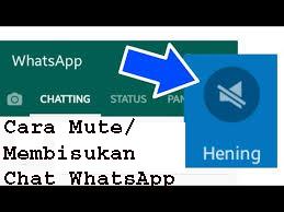 11Cara Mute/Membisukan Chat WhatsApp  1