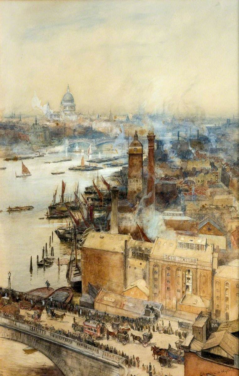 Charles William Wyllie The Thames London