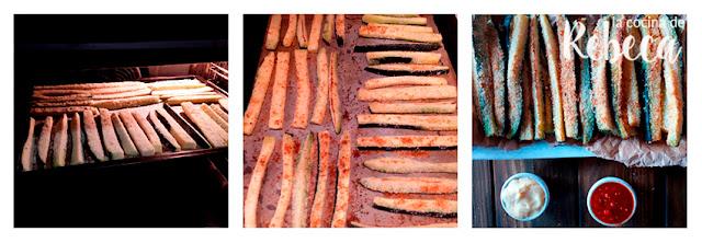 Receta de palitos de calabacín al parmesano: el horneado