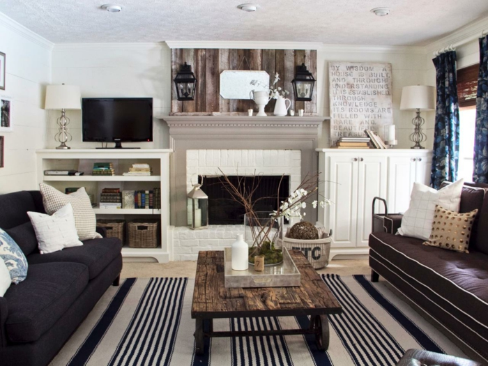 Wohnzimmer Landhausstil Farben ~ Kreative Bilder für zu Hause ...