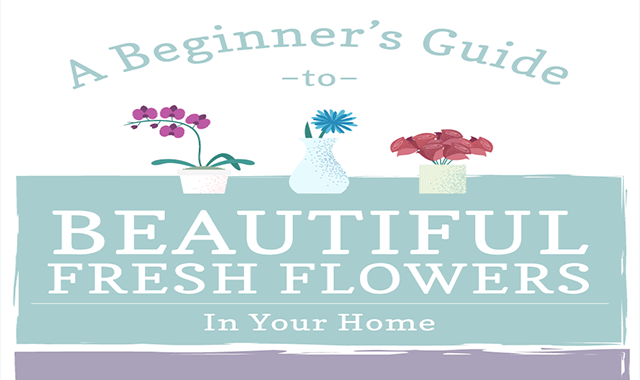 Guide to Beautiful Fresh Flowers in Your Home #infographic