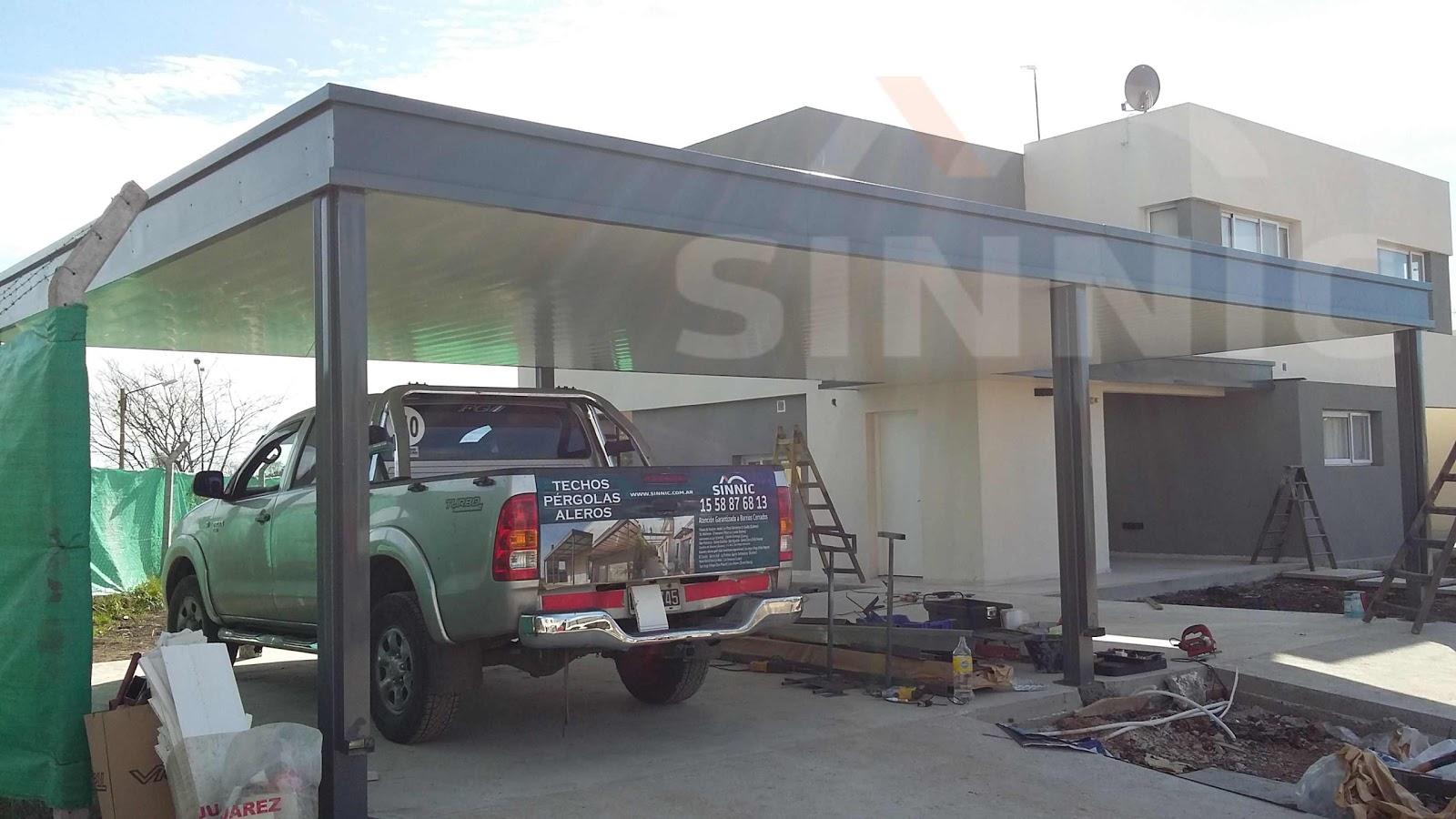 Techo de policarbonato pergolas aleros techos de chapa for Techos de policarbonato para garage