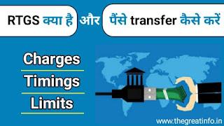 RTGS kya hai in hindi, charges, limits and timings