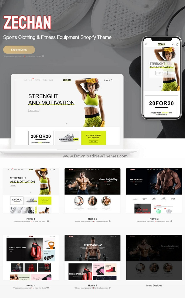 Sports Clothing and Fitness Equipment Shopify Theme