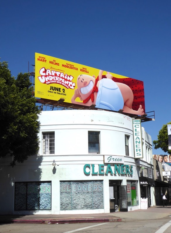 Captain Underpants movie billboard