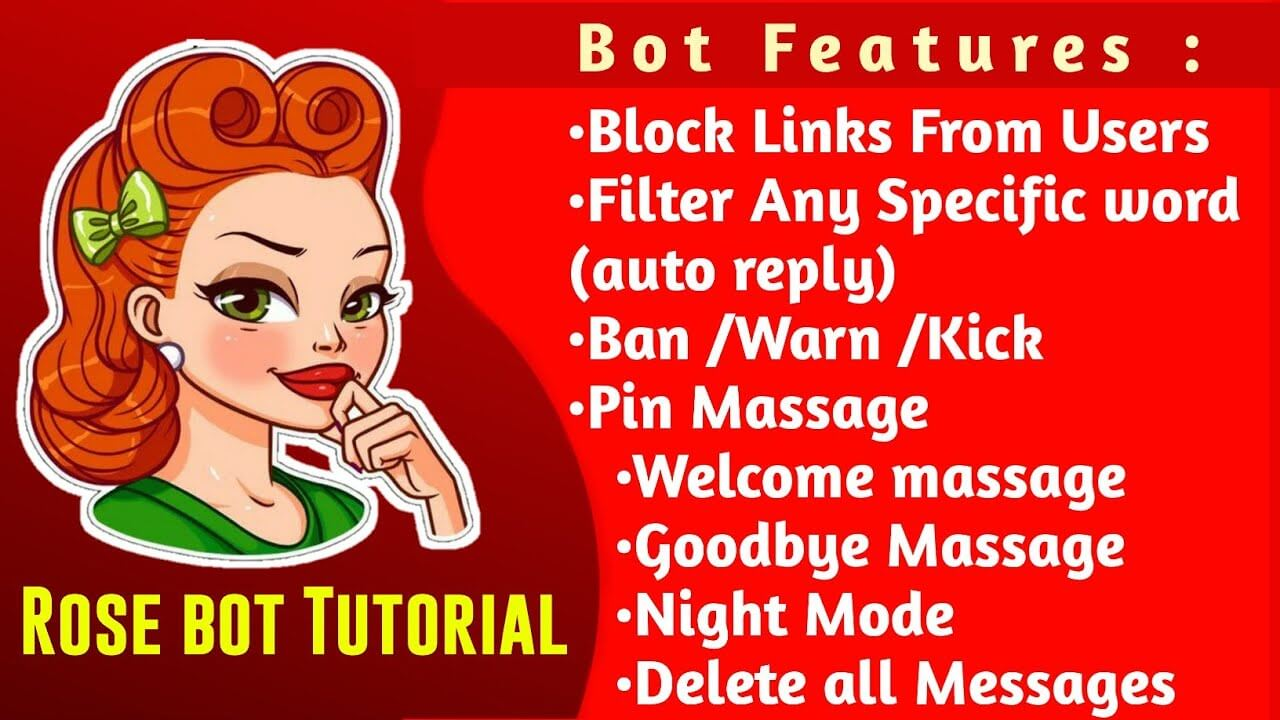 How to use and setup telegram rose bot | Rose bot Command list