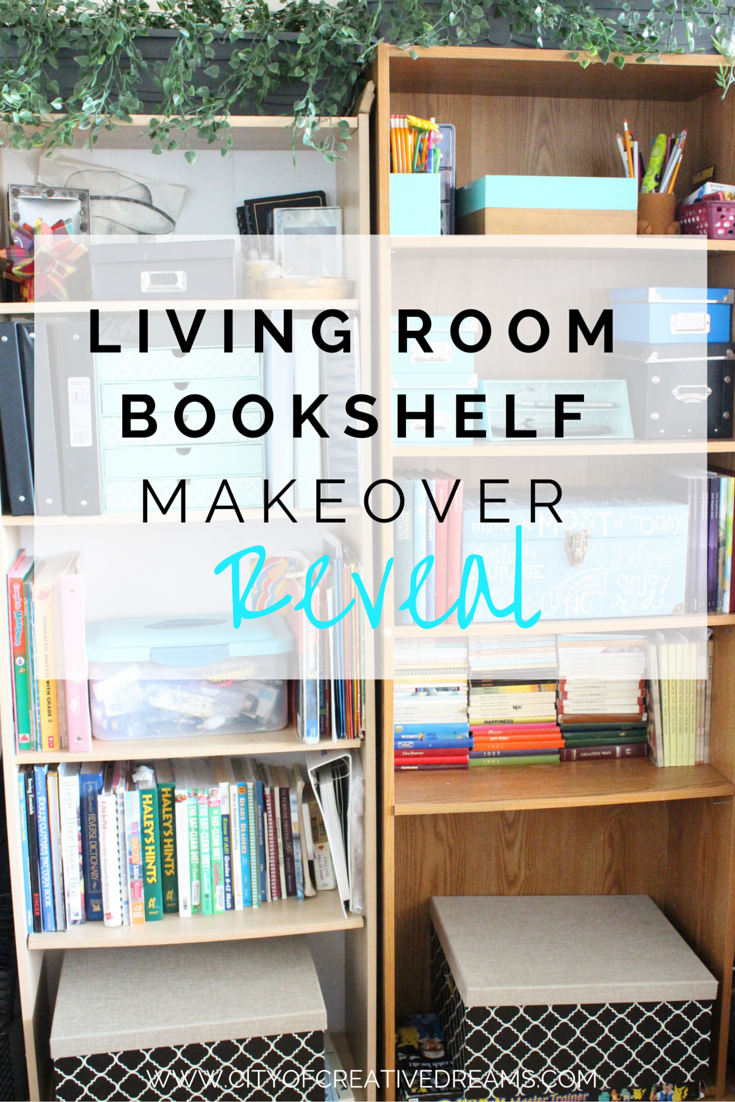 Spring Cleaning - Living Room Bookshelf Reveal | City of Creative Dreams