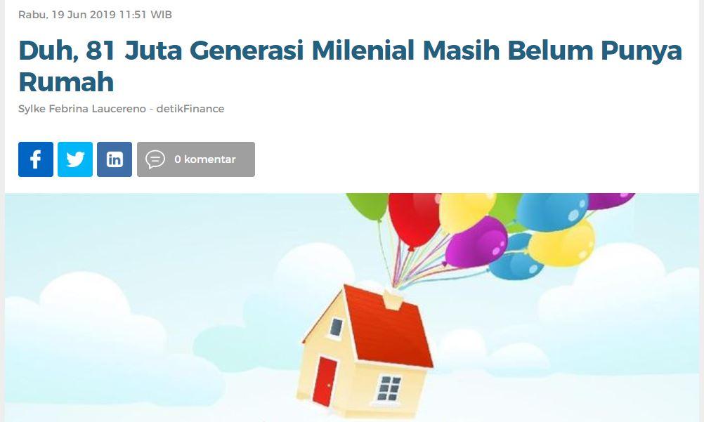 Milenial Sulit Punya Rumah