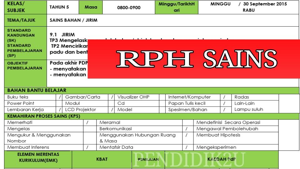RPH SAINS KSSR
