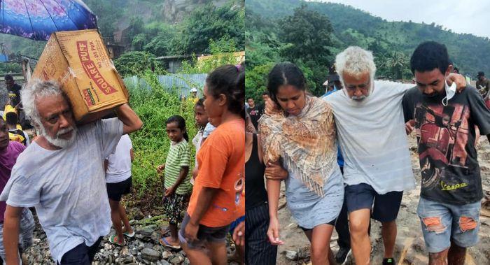 Benarkah Mantan Presiden Timor Leste Angkat Dus Bantuan untuk Korban Bencana NTT?