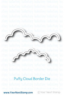 Puffy Cloud Border Die