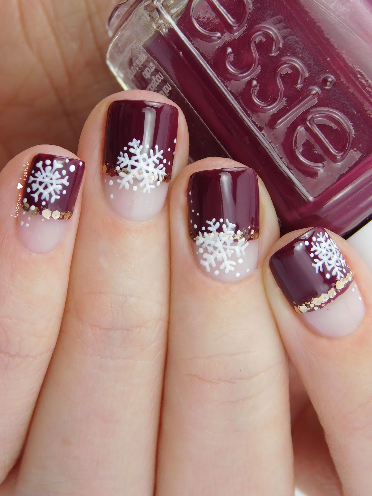 1000+ Ideas About Snowflake Nails On Pinterest