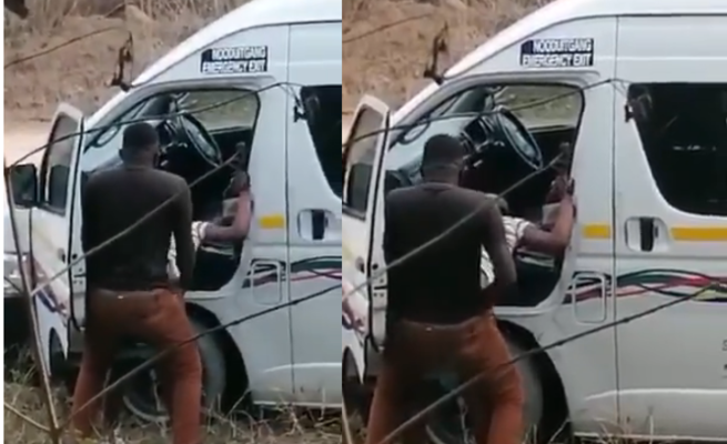(video) Taxi driver having sex, by the road side
