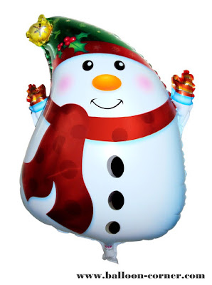Balon Foil Snowman