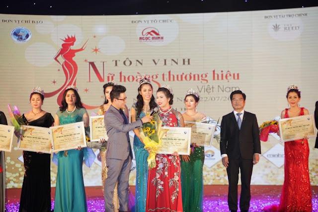 Cận nhan sắc Nữ Hoàng Thương Hiệu ngành thực phẩm Việt Nam năm 2018 mới đăng quang