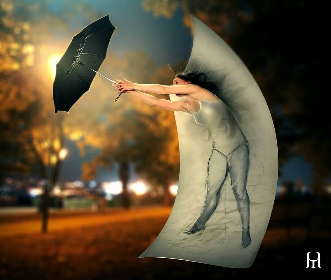 10-Save-me-Umbrella-Tullius-Heuer-Photoshop-and-Digital-Art-Drawings-www-designstack-co