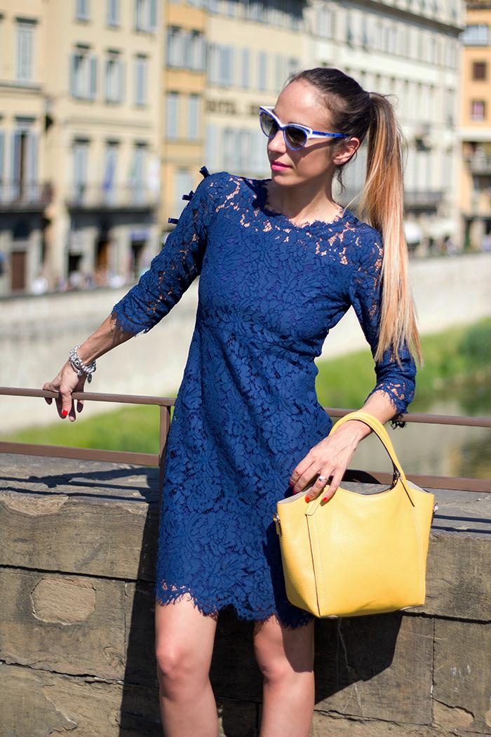 abito pizzo blu