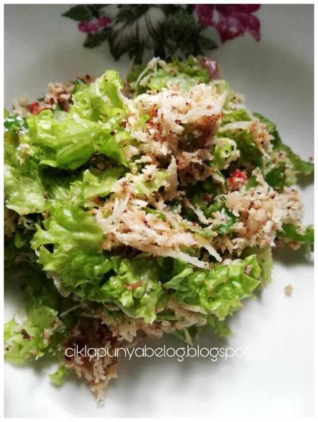 Kerabu salad kacang botor cara saya. Menu diet ni!