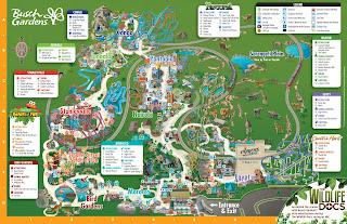 Mapa Busch Gardens Tampa Bay Orlando Florida