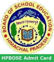 HPBOSE Admit Card