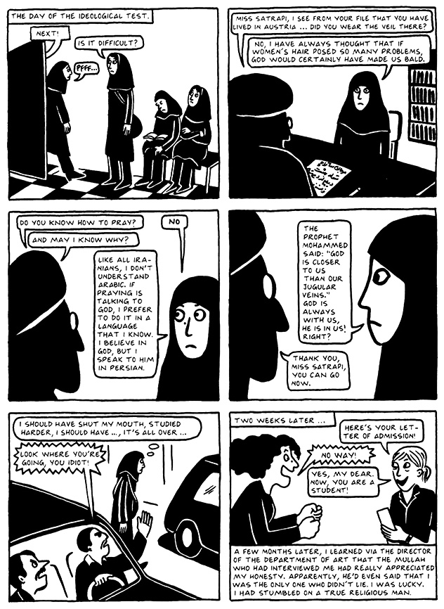 Read Chapter 13 - The Exam, page 130, from Marjane Satrapi's Persepolis 2 - The Story of a Return