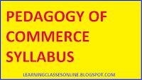 pedagogy of commerce b.ed second year syllabus pdf