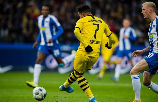 """Video Hertha Berlin 1-2 Dortmund: """"Neymar nước Anh"""" tỏa sáng, định đoạt cực sớm"""