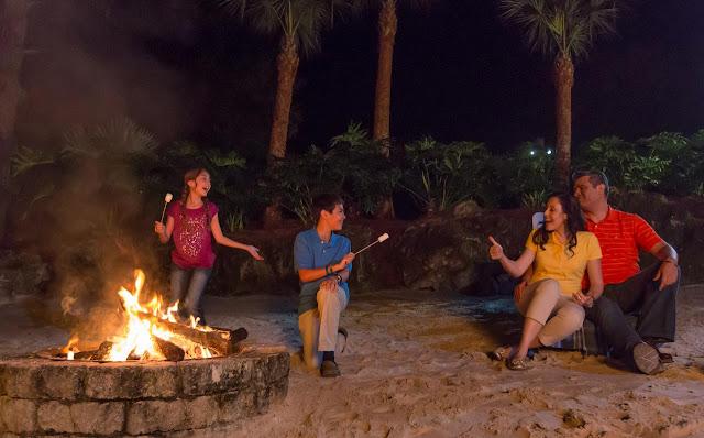 Champions World Resort em Orlando: fogueira