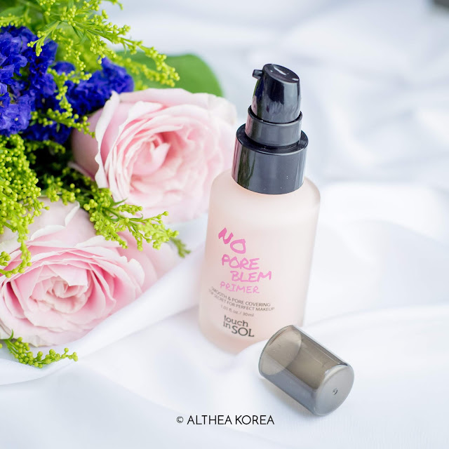 spring, makeup, cosmetics, beauty, kbeauty, flowers, skincare, althea, primer, touch in sol, pink