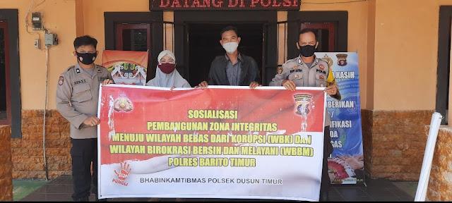 Polsek Dustim Sosialisasikan ZI menuju WBK dan WBBM