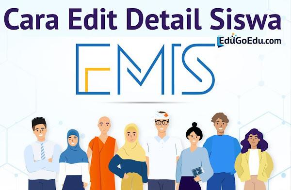 Edit Detail Siswa di EMIS 4.0 Madrasah