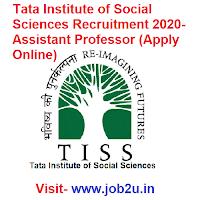 Tata Institute of Social Sciences Recruitment 2020, Assistant Professor