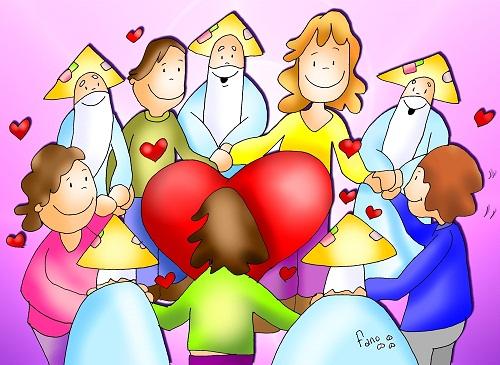 Resultado de imagen de fano amaos los unos a los otros como yo os he amado..