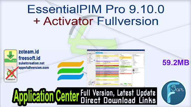 EssentialPIM Pro 9.10.0 + Activator Fullversion