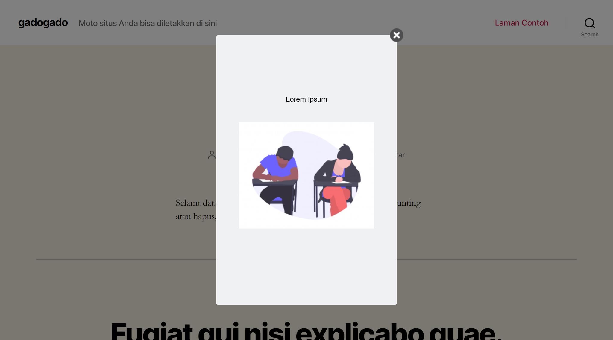 cara membuat popup di wordpress