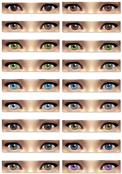Sims 4 Cc Sims 4 Realistic Eyes