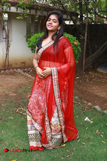 Sasi Pictures in Red Half Saree at Manjal Movie Audio Launch ~ Celebs Next