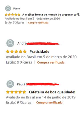 Opinião dos compradores da cafeteira italiana moka Bialetti na amazon do Brasil
