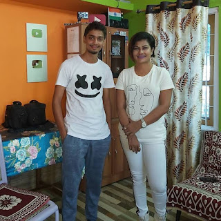 Dimpu Baruah with actress Prastuti